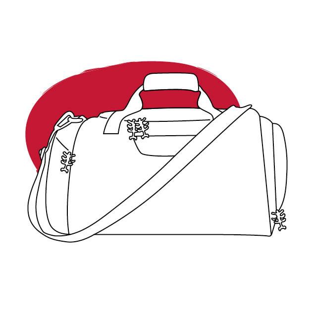 Strichzeichnung Sporttasche