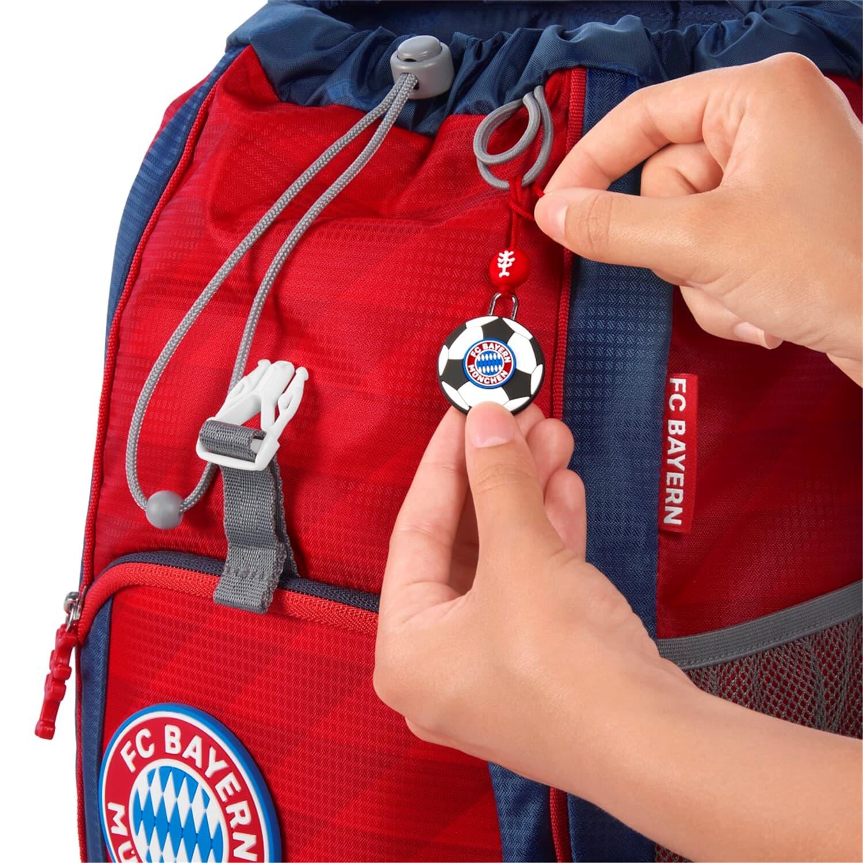 """Step by Step Kid Rucksack-Set FC Bayern /""""Mia san Mia/"""" ergonomisch f/ür Kindergarten und Freizeit 13 Liter rot mit Reflektoren individualisierbar 3-teilig f/ür Jungen und M/ädchen"""