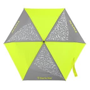 Regenschirm, reflektierende Elemente und leuchtende Neonfarben, Neon Yellow