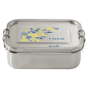 Lunchbox aus Edelstahl, auslaufsichere und umweltfreundliche Brotdose mit Fächern, BPA-frei, spülmaschinengeeignet, geschmacksneutral, Blue & Yellow
