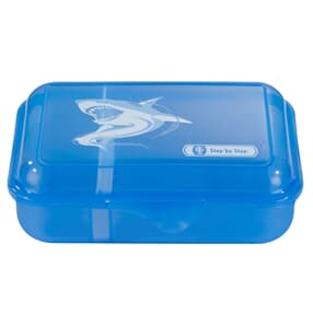 Lunchbox mit Trennwand, Angry Shark, Blau