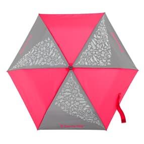 Regenschirm, reflektierende Elemente und leuchtende Neonfarben, Neon Pink