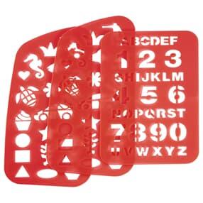 Schablonen-Set (Verstärkungen) für 2IN1 Schulranzen, 3-teilig, Rot