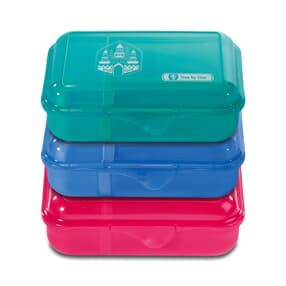 Lunchbox mit Trennwand, in verschiedenen Farben und Motiven