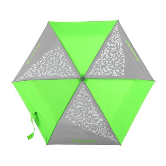 Regenschirm, reflektierende Elemente und leuchtende Neonfarben, Neon Green