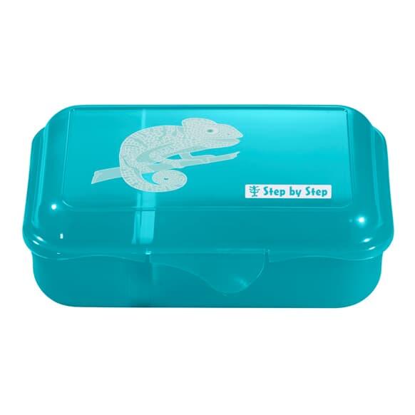 Lunchbox mit Trennwand, Tropical Chameleon, Türkis