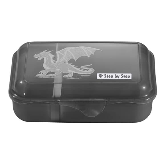 Lunchbox mit Trennwand, Dragon Drako, Schwarz