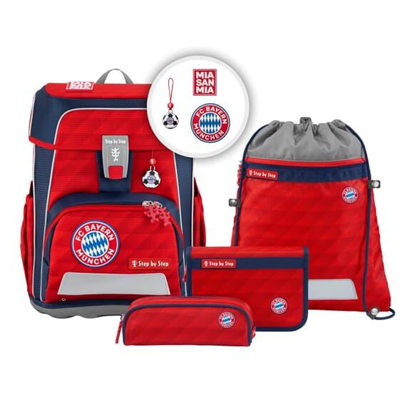 "Schulranzen-Set ""CLOUD"", FC Bayern, Mia san Mia, Leichtgewicht"