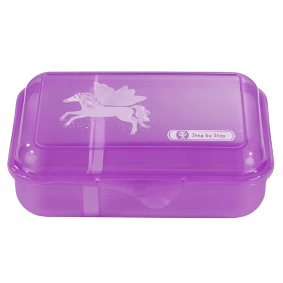 Lunchbox mit Trennwand, Fantasy Pegasus, Lila