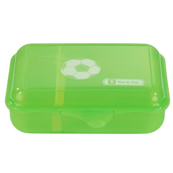 Lunchbox mit Trennwand, Soccer Star, Grün