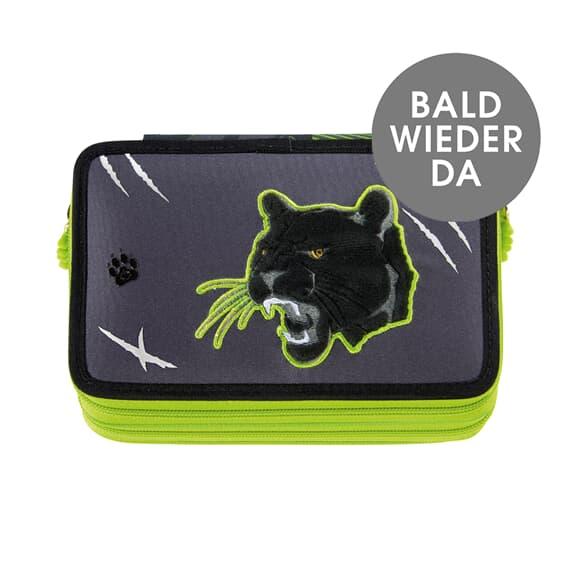 XXL-Mäppchen FLASH,  Wild Cat, 43-teilig, mit Leuchteffekt