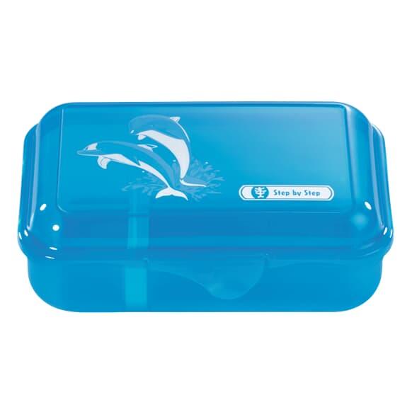 Lunchbox mit Trennwand, Happy Dolphins, Blau