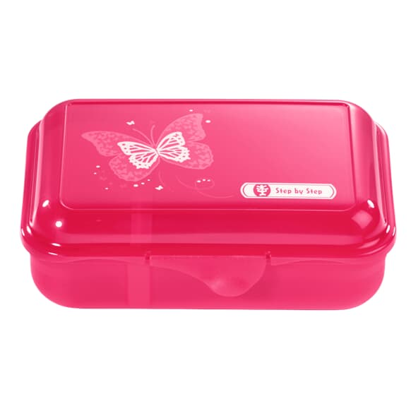 Lunchbox mit Trennwand, Shiny Butterfly, Pink