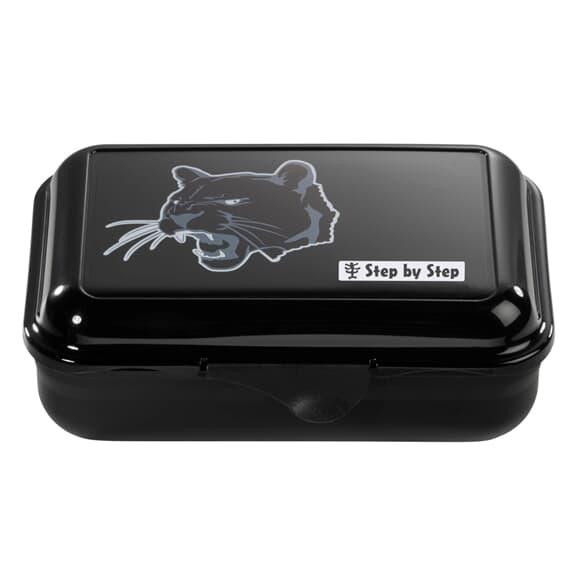 Lunchbox mit Trennwand, Wild Cat, Schwarz