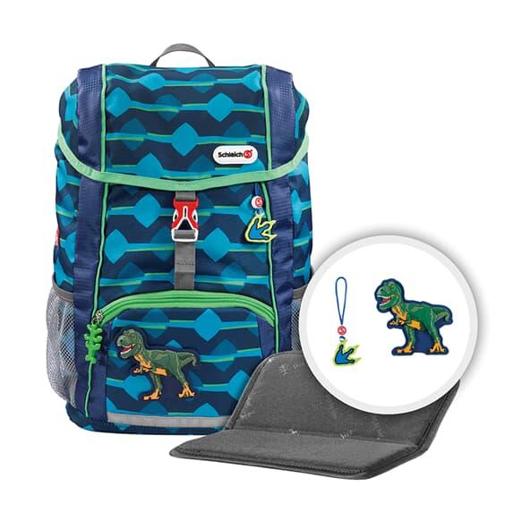 """Rucksack-Set """"KID Schleich®"""", Dinosaurs, T-Rex, mit Sitzkissen"""