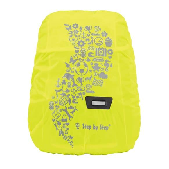 Regen-/Sicherheitshülle, reflektierend, Größe S, für KID Vorschulrucksäcke, Neongelb
