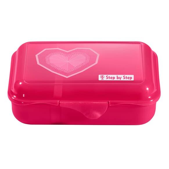 Lunchbox mit Trennwand, Glitter Heart, Pink